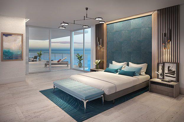 5000 North Ocean, Interior Bedroom Rendering
