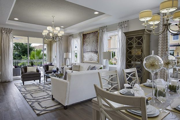 Grande Oaks Decorated Model Home Interior