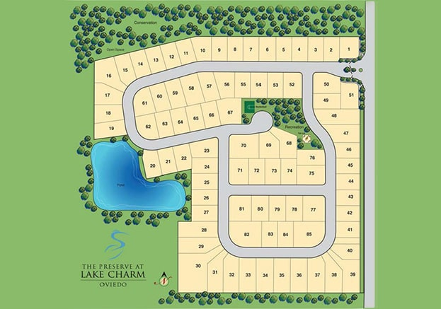 The Preserve at Lake Charm Oviedo FL Site Map