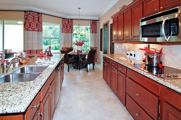 Savannah Estates Model Home Kitchen and Dining Area
