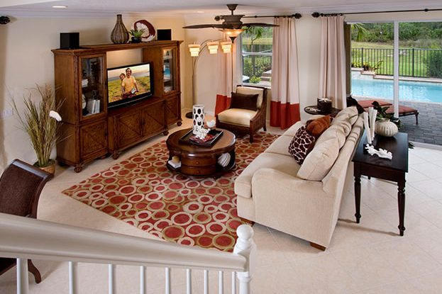 The Oaks Model Home Living Area
