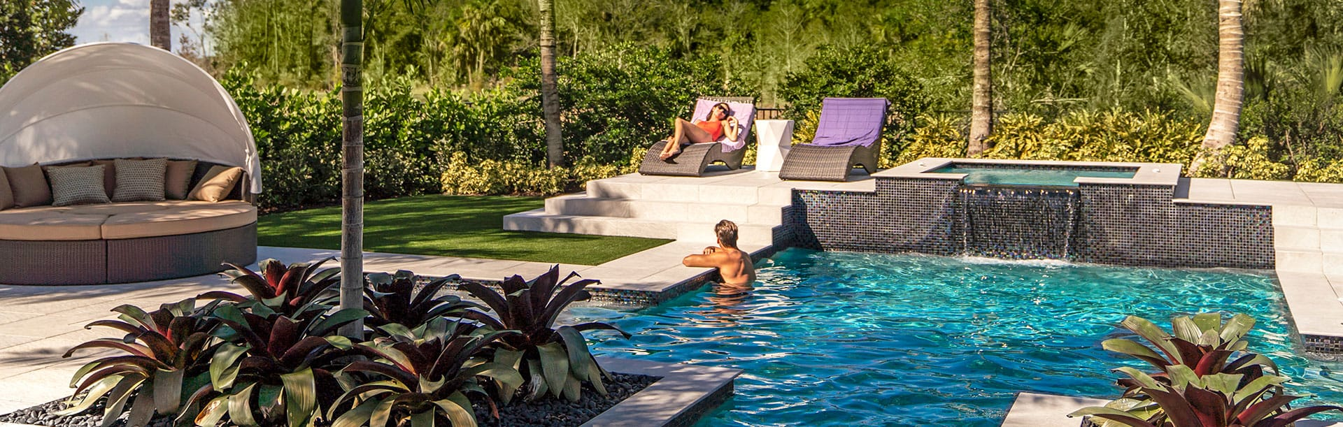 Kolter Homes' luxurious backyard pools