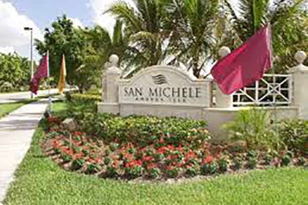 Entrance of San Michele Andros Isles in West Palm Beach, a Kolter Group Property