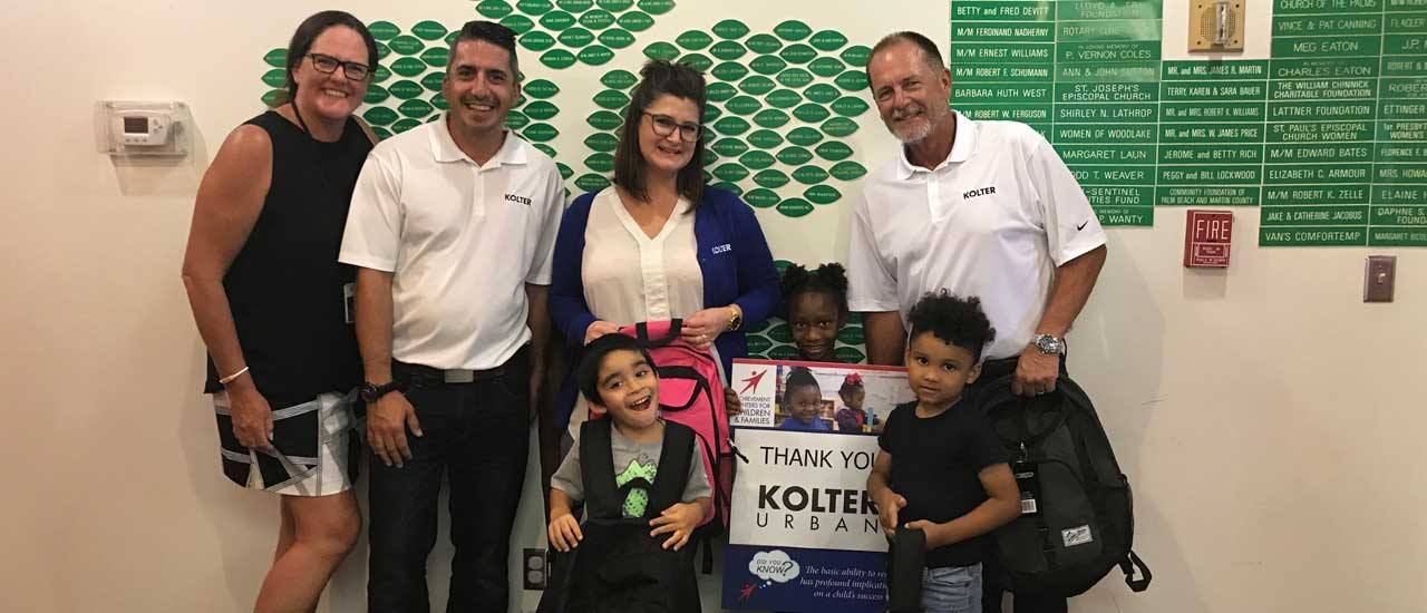 Kolter Urban is committed to developing the minds and the future of our youth