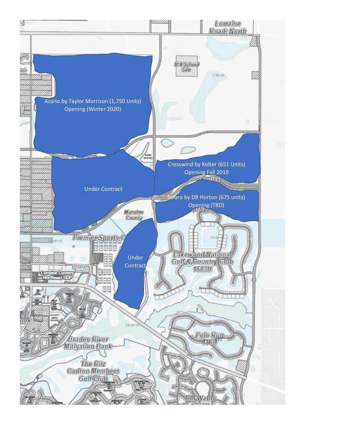 Where growth is coming in Lakewood Ranch's Northeast Quadrant. provided graphic