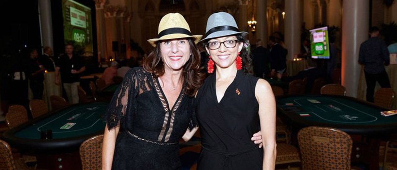 Stephanie Seibel and Jessica Hall supported local nonprofits at the 2019 Kolter|Kast Havana Nights Charity Poker event.