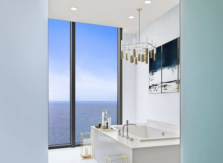 Bath with Oceanview