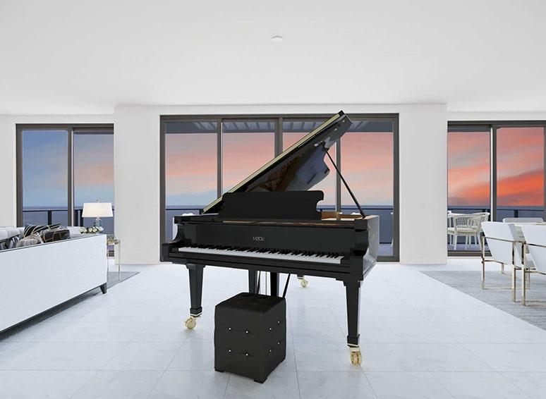 Piano at living room