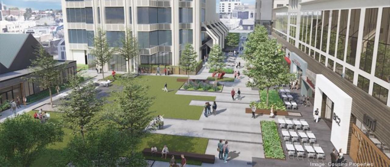 rendering of the walkability that is happening in buckhead atlanta