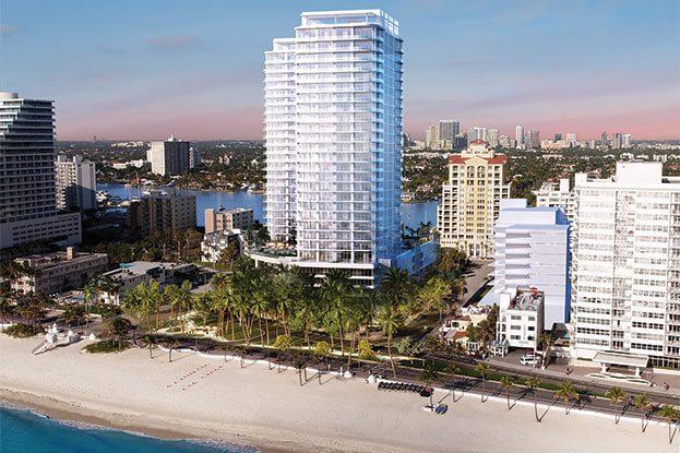 Rendering of Selene on the Fort Lauderdale Beach