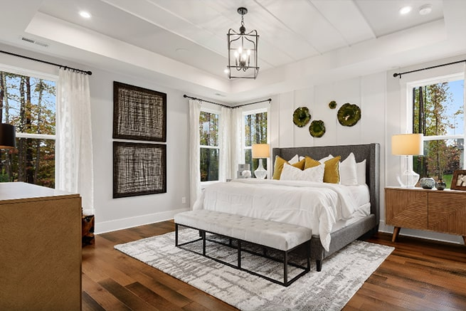 bedroom of palm model from kolter homes