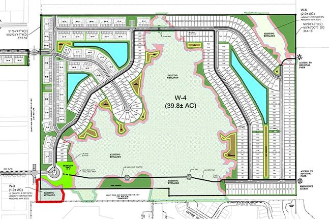 site plan of savannah lakes