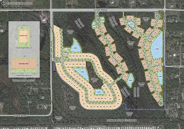 silver oaks master site plan rendering
